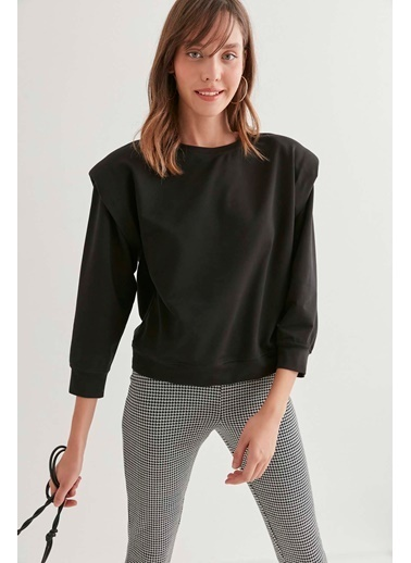 Vitrin Omuz Detaylı Sweatshirt Siyah